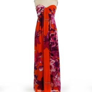 Jessica Simpson strapless floral maxi dress